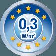 Norma EU 0,3 W/mp
