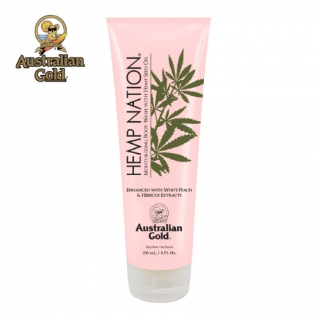 Hemp Nation White Peach & Hibiscus body wash